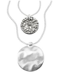 Kenneth Cole | Metallic Silver-tone Mixed Metal And Crystal Accent | Lyst