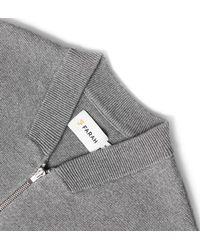 Farah - Gray Usher Gravel Grey Marl Knitted Full Zip Sweatshirt for Men - Lyst