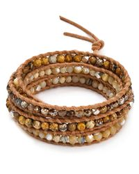 Chan Luu | Natural Beaded Wrap Bracelet | Lyst