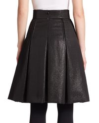 Akris Punto - Black Metallic Pleated Skirt - Lyst