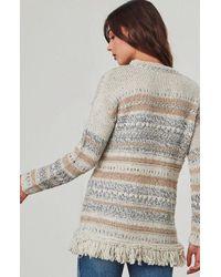 Jack BB Dakota - White Joannie Fringe Sweater - Lyst
