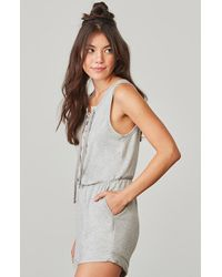 BB Dakota - Gray Zuelia French Terry Romper - Lyst