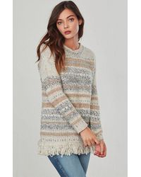 Jack BB Dakota   White Joannie Fringe Sweater   Lyst
