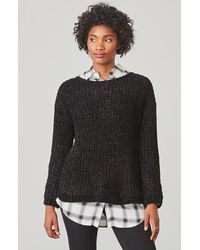 BB Dakota | Black Cella Velour Sweater | Lyst