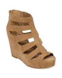 BCBGeneration   Brown Torrez Platform Wedge Sandals   Lyst