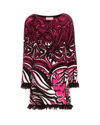 Emilio Pucci | Multicolor Abstract-Pattern Cotton-Blend Dress | Lyst