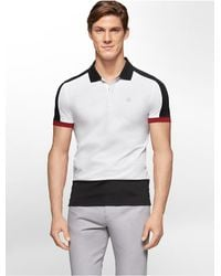 Calvin Klein | White Label Ck One Colorblock Jacquard Polo Shirt for Men | Lyst