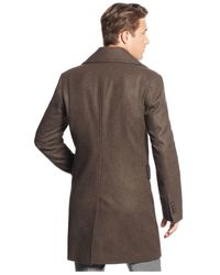 Michael Kors | Brown Michael Eden Classic-fit Overcoat for Men | Lyst