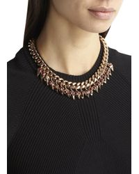 Mawi - Purple Rose Gold Tone Necklace - Lyst