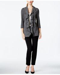 Calvin Klein | Black Open-front Ruffle Soft Jacket | Lyst