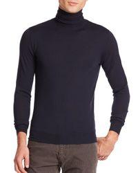 Ralph Lauren Black Label   Blue Merino Wool Turtleneck Sweater for Men   Lyst