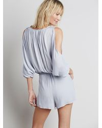 Free People - Gray Womens Love Is All Around Romper - Lyst