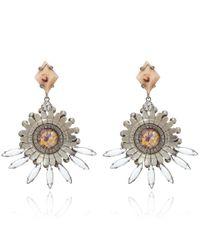 DANNIJO - Pink Amelia Crystal Earrings - Lyst