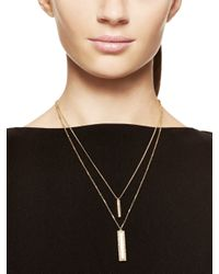kate spade new york | Natural Understated Elegance Double Pendant | Lyst