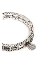 Philippe Audibert | Metallic Crystal Embellished Elasticated Bracelet | Lyst
