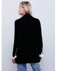 Free People | Black Yesterday's Muse Velvet Jacket | Lyst