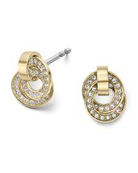 Michael Kors - Metallic Pave Rings Delicate Stud Earrings - Lyst