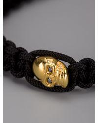 Nialaya - Black Skull Bracelet for Men - Lyst