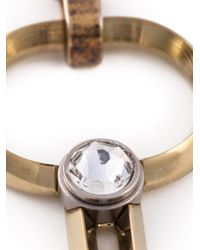 Lanvin - Metallic Key Pendant Open Necklace - Lyst