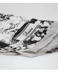 Reiss - Black Jonti Painterly Snake Print Scarf - Lyst
