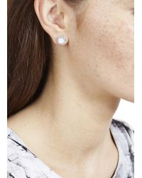 Marc By Marc Jacobs | Metallic Silver Tone Disc Stud Earrings | Lyst