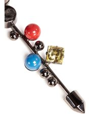 Assad Mounser - Multicolor Geometric Crystal Gemstone Stud Earrings - Lyst