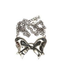 Femme Metale Jewelry | Metallic Girlie Bow Necklace | Lyst