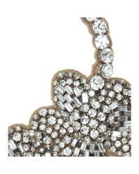 Valentino - Metallic Crystal-embellished Satin Necklace - Lyst
