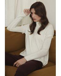 Velvet By Graham & Spencer - Natural Juju Feather Fringe Cashmere Sweater - Lyst