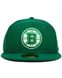 KTZ   Green Boston Bruins C-dub 59fifty Cap for Men   Lyst