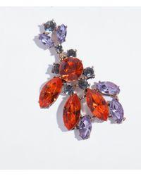 Zara | Orange Jewel Earrings | Lyst