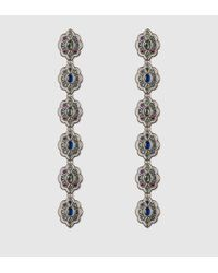 Gucci - Gray Earrings With Swarovski Crystals - Lyst