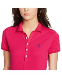 Polo Ralph Lauren - Pink Skinny Stretch Polo Shirt - Lyst