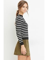Forever 21 | Black Classic Striped Sweater | Lyst