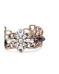 Forever 21 | Metallic Rhinestone Chain Bracelet | Lyst