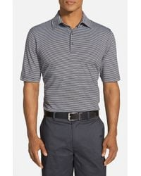 Bobby Jones | Black 'Xh20 Micro Stripe' Tailored Fit Four-Way Stretch Golf Polo for Men | Lyst