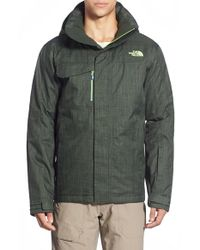 The North Face - Green 'hickory Pass' Active Fit Waterproof Jacket for Men - Lyst