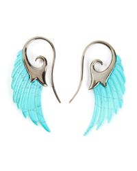 Noor Fares - Blue Wing Earrings - Lyst