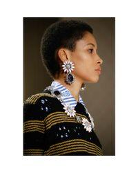 Miu Miu | Metallic Crystal-embellished Necklace | Lyst