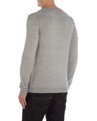 Calvin Klein | Gray Saba V Neck Long Sleeve Sweater for Men | Lyst