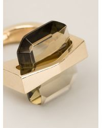 Alexander McQueen - Metallic 'bridge' Ring - Lyst