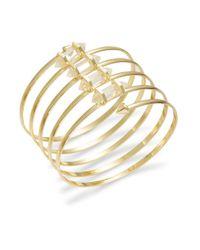 BCBGeneration | Metallic Crystal Coil Bracelet | Lyst