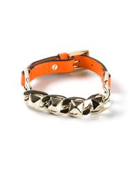 Valentino | Orange Buckle Strap Bracelet for Men | Lyst