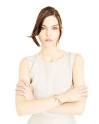 Oscar de la Renta - Metallic Swarovski Crystal & Pearl Bracelet - Lyst