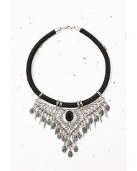 Forever 21 | Black Etched Statement Necklace | Lyst