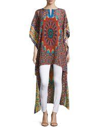 Tolani - Multicolor Mandira High-low Printed Caftan Tunic - Lyst
