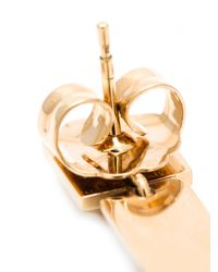 Rebecca - Metallic Single Wave Crystal Earrings - Lyst