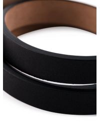 Alexander McQueen - Black Wrap Around Skull Bracelet for Men - Lyst
