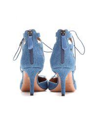 Aquazzura - Blue Mytheresacom Exclusive Belgravia Denim Pumps - Lyst