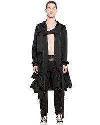 Nicopanda - Black Paneled Cotton Jogging Pants - Lyst
